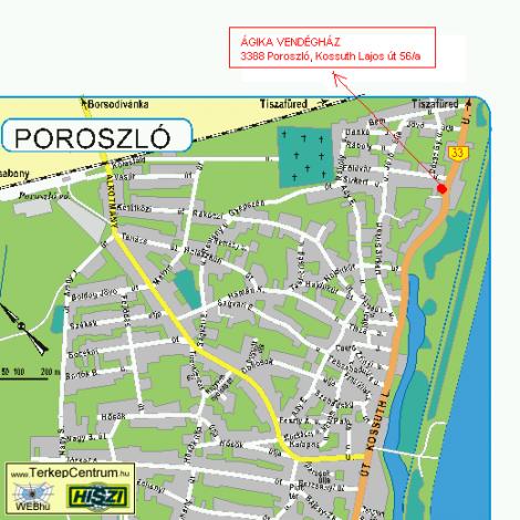 poroszló térkép Poroszló térképe poroszló térkép