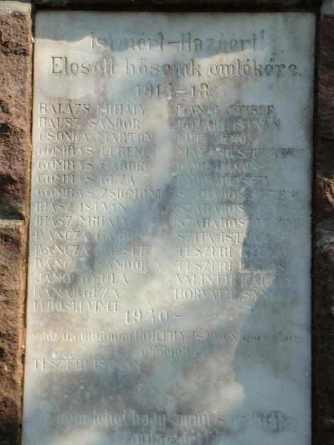 Hősi halottak emlékmű