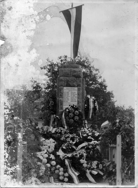 I. világháborús emlékmű avatás