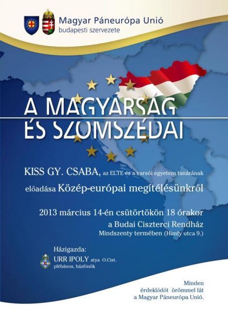 eszélgetés Kiss Gy. Csabával (ELTE Varsói Egyetem)