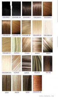 Haarverl ngerung europ ischen echten haaren for Farbpalette braun